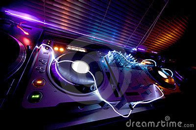 house music dj equipment glowing dj equipment stock photo image 22268310