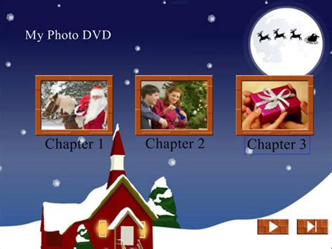free christmas themed dvd menu background templates