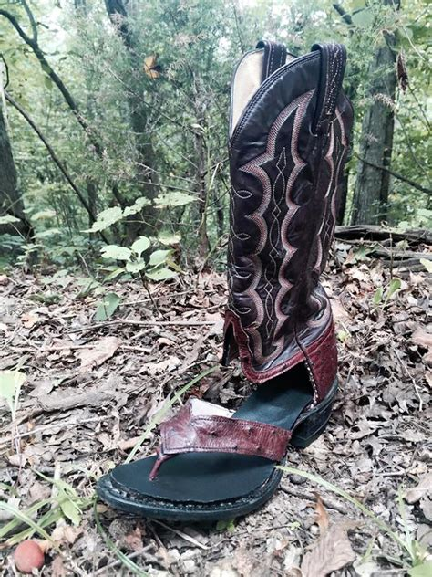 cowboy boots sandals boot sandals a handy service that turns worn out