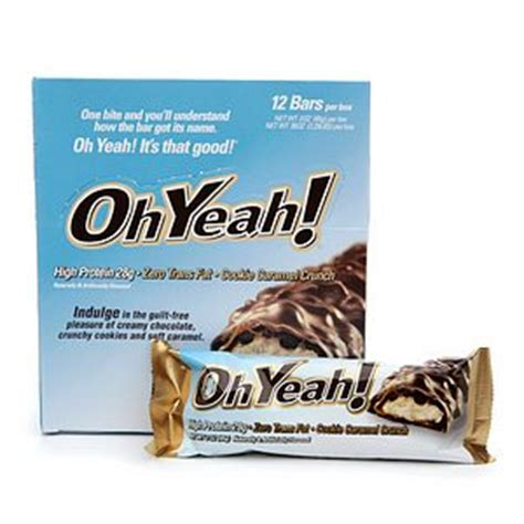 o yeah protein bars iss oh yeah protein bars cookie caramel crunch