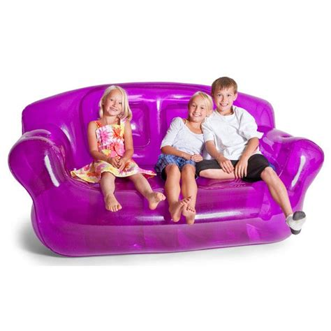 blow up sofas inflatable couch purple