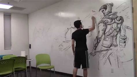 Murals For Bedroom Walls amazing huge skyrim drawing using only an expo marker
