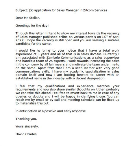 Standard Covering Letter For Application by Sle Standard Business Letter Format 7 Free Documents In Pdf Word