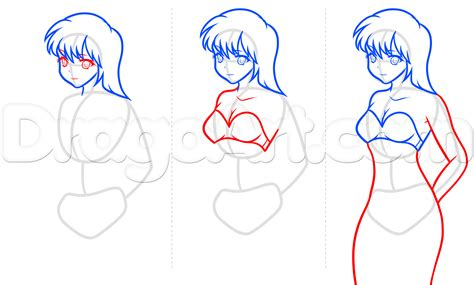 how to draw bodies how to draw anime step by step for beginners