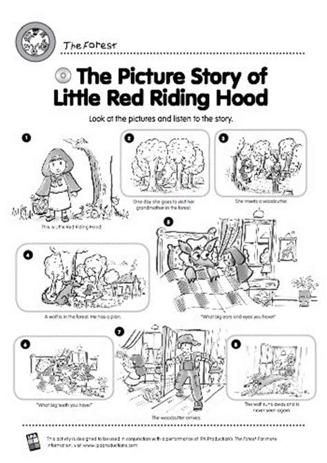 story themed activities little red riding hood story and activities start the