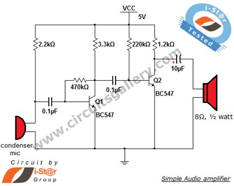 transistor microphone lifier circuit simple condenser microphone mini audio lifier circuit schematic circuits gallery
