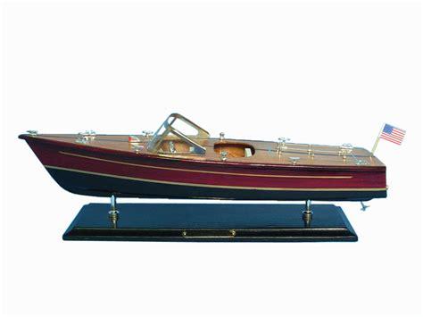 craft models for buy wooden chris craft dual cockpit model speedboat 20