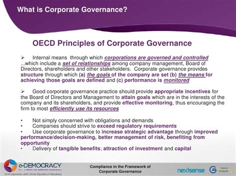 better corporate governance compliance in the framework of corporate governance side