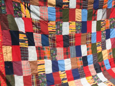 Flannel Patchwork Fabric - vintage winter quilt patchwork wool flannel corduroy