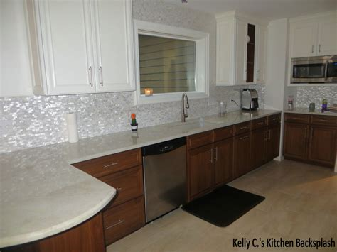 breathtaking mother of pearl tile backsplash decorating
