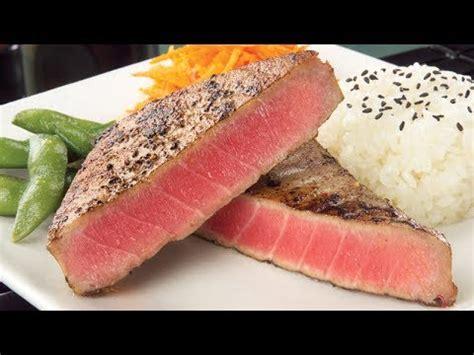 how to cook tuna steaks youtube