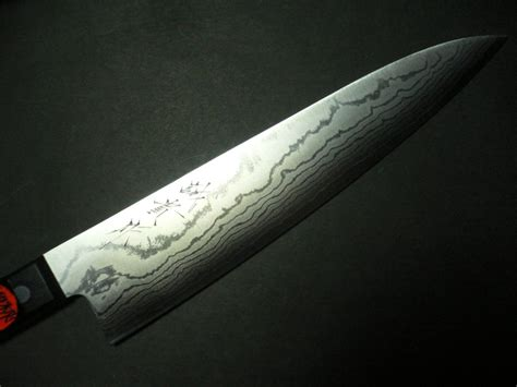 japanese damascus kitchen knives japanese kitchen knife damascus gyutou 240mm vg10 steel black handle knife