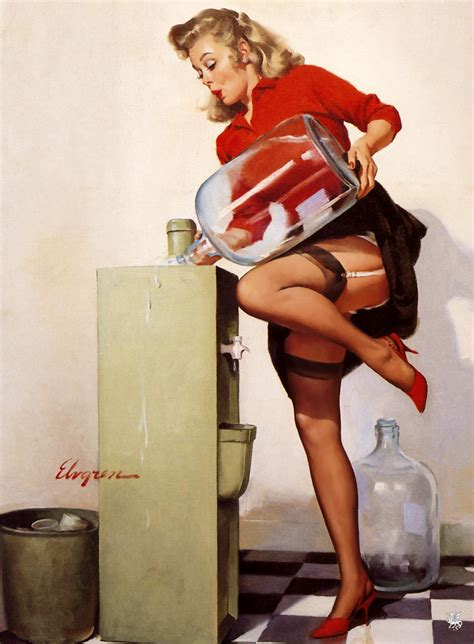 pin up gil elvgren pin up illustrator trendland