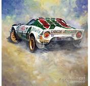 Lancia Stratos 1976 Rallye Sanremo Painting By Yuriy Shevchuk