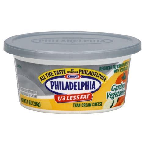 kraft philadelphia cheese spread 1 3 less garden