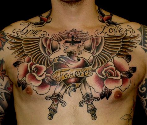 tattoo on chest pinterest heart with wings chest piece chest tattoos pinterest