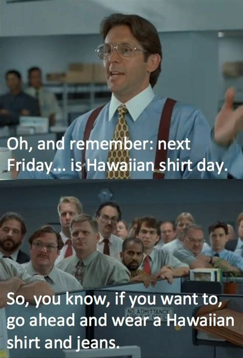 Office Space Hawaiian Shirt Office Humor Office Humor