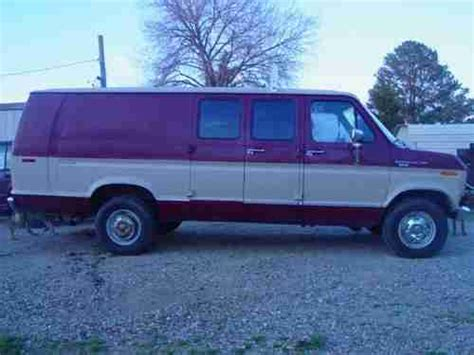 find used 1990 ford e350 7 3 liter xl diesel work utility van runs drives good in sardis