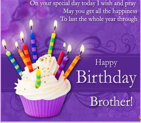 Birthday Quotes For Who Away 25 Best Happy Birthday Brother Quotes On Pinterest