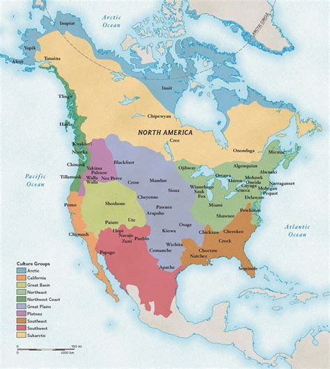 american tribe map by regions american cultures national geographic education