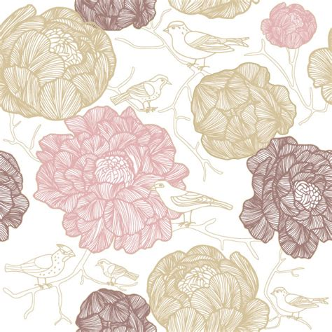imagenes de outfits vintage vector line drawing fashion flowers background free vector