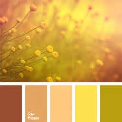 colors that go well with yellow soft palette of beige brown and yellow green hues this