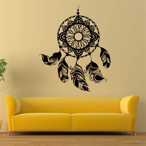 stickers for decorating walls catcher wall boho vinyl decals decor dreamcatcher bohemian sticker z398 ebay