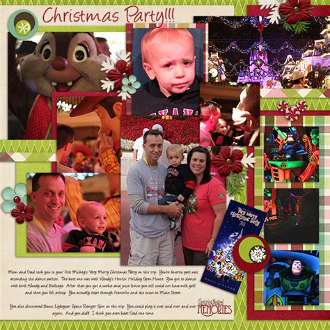 layout design for christmas party scrapbooking miscellaneous disney photos capturing