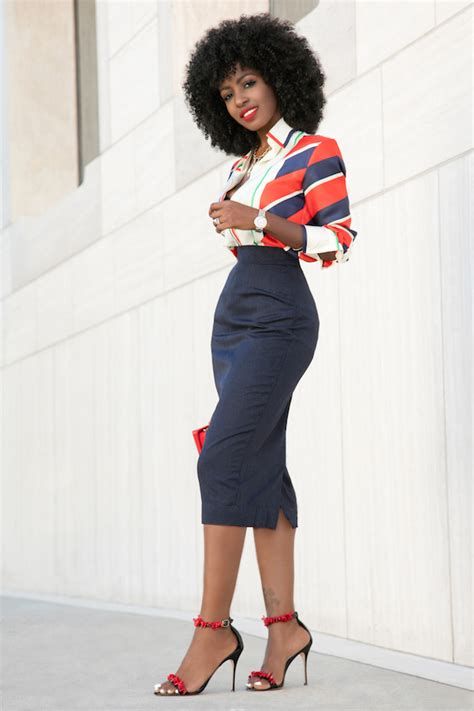 Pantry Style by Style Pantry Navy Blue Pencil Skirt