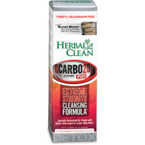 Herbal Clean Detox Qcarbo 20 Reviews by Herbal Clean Qcarbo Plus Detox With Boost Strawberry Mango