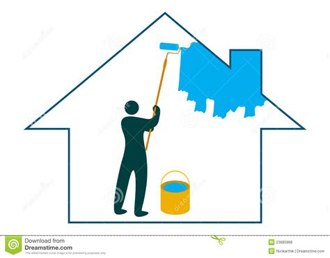 painting the house painting the house royalty free stock photos image 23685988
