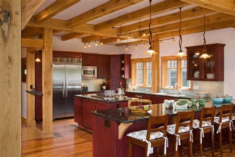 a frame kitchen ideas timber home kitchens purgatory timber frame kitchen