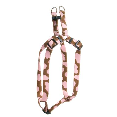 step in harness pink cow step in harness by yellow design