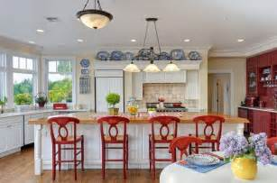 Red And Blue Kitchen by Red White And Blue Kitchen Kitchens Pinterest