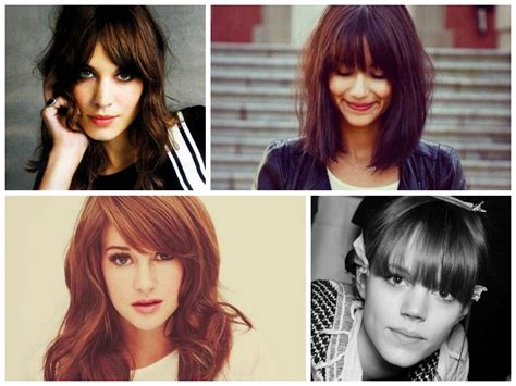 best type of bangs for different types of faces images of different styles of bangs chic bangs with