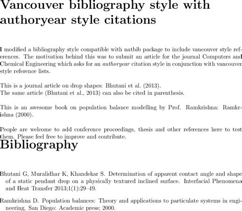 book reference generator vancouver bibtex can i cite author name or year in text when using