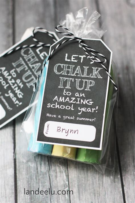 fun gifts for students during student teaching end of school year gift idea chalk it up landeelu
