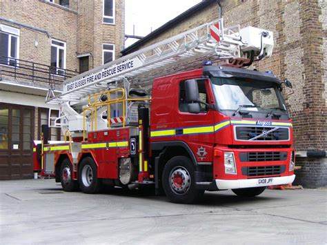 fire engines  east sussex fire  rescue volvo fm alp