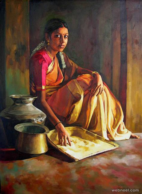 indian painting 25 beautiful rural indian paintings by tamilnadu