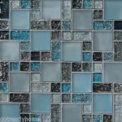 Sample Backsplashes For Kitchens Sample Blue Crackle Glass Mosaic Tile Backsplash Kitchen
