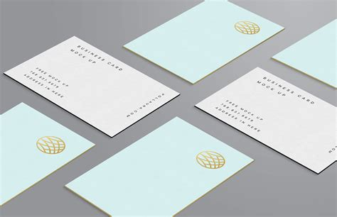 free card free premium business card mockup psd set mockups