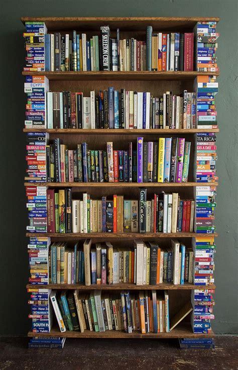 bookshelf made from travel books 171 hodomania by benjamin