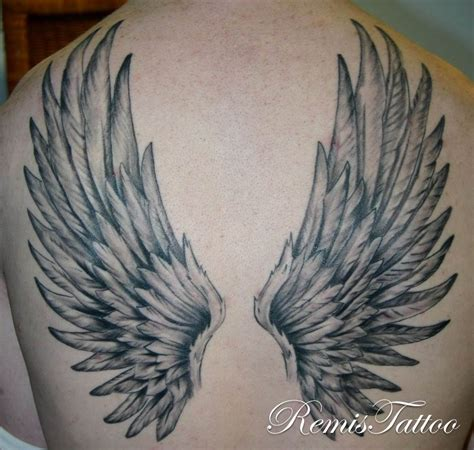 tattoo of angel wings wings back lawas