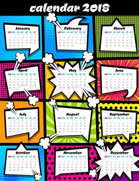 the boxer 2018 calendar books 2018 calendar pop template comic book colored
