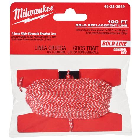 chalk paint milwaukee milwaukee 100 ft bold chalk reel replacement line 48 22