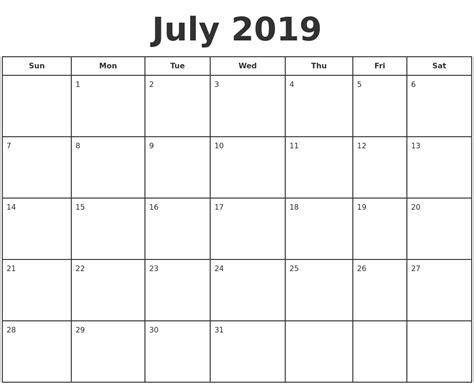 july  print  calendar
