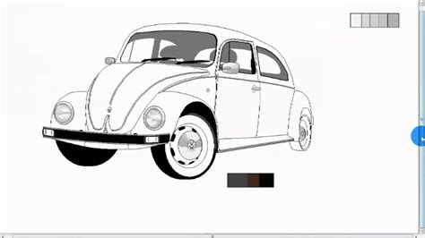 volkswagen bug drawing how to draw vw bug
