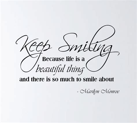Keep Smiling Plumbing by Wall Decor Quotes By Marilyn The Drawing Room