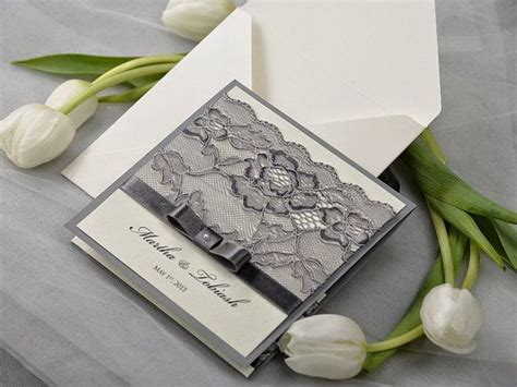 lace wedding invitations with pockets lace wedding invitation with pocket sang maestro