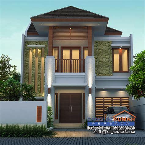 desain interior rumah lebar desain rumah tropis 2 lantai di lahan 9 x 20 m2 brp